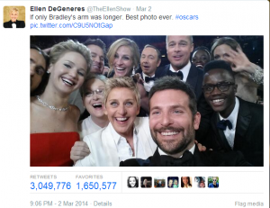 Selfie at the Oscars 2014