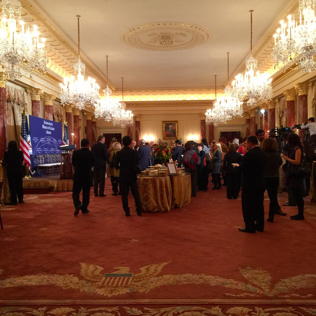 The #IWOC Award Ceremony in the Benjamin Franklin Room at the State Department